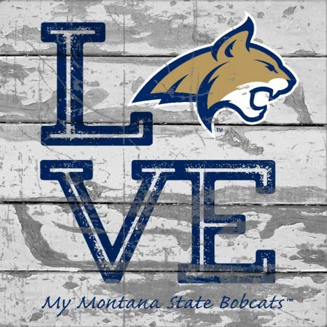 Prints Charming College Love My Team Logo Square Montana State Fighting Bobcats Unframed Poster 12x12 (Montana Logo Square)