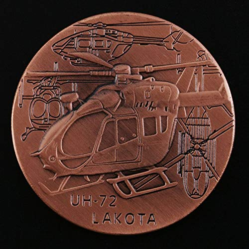 Non-currency Coins - Uh72 Lakota Combat Helicopter Commemorative Coin Collection Gift Souvenir - Navy Coins Us Coin Navy World Coin Owl Coin Gold Rose Switch S Cap Case Cap Coin Patch Rose Polo