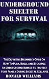 Underground Shelter For Survival: The Definitive Beginner's Guide On How To Plan, Build, and Stockpile An Underground Shelter To Protect Your Family During Societal Collapse