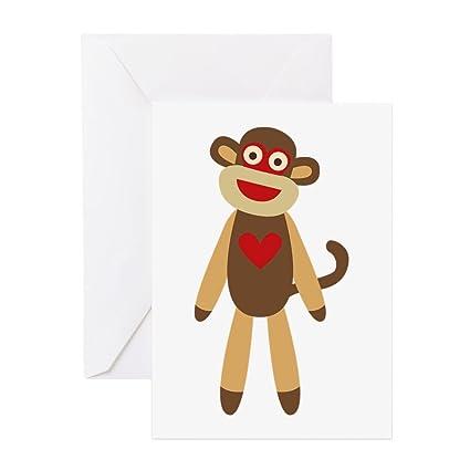 Amazon cafepress sock monkey greeting cards greeting card cafepress sock monkey greeting cards greeting card note card birthday card m4hsunfo