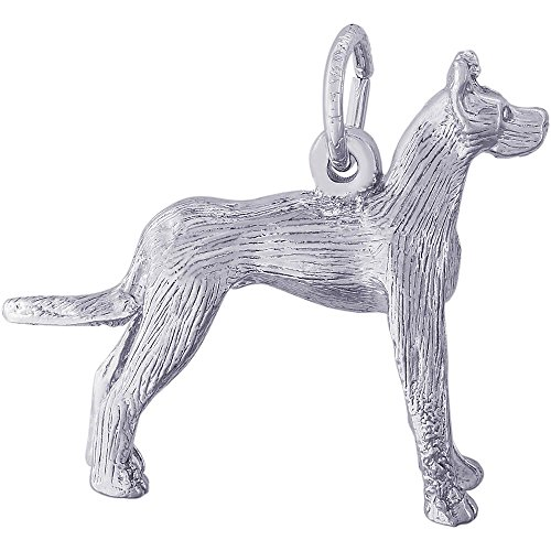 (Rembrandt Charms Sterling Silver Great Dane Dog Charm (19 x 23.5 mm))
