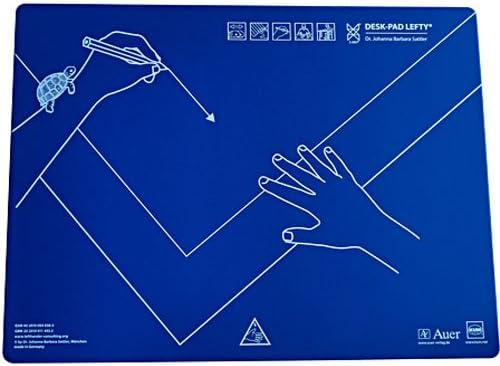 Cobalt-Blau Alle Klassenstufen Linkshändigkeit Schreibtischauflage für Linkshänder