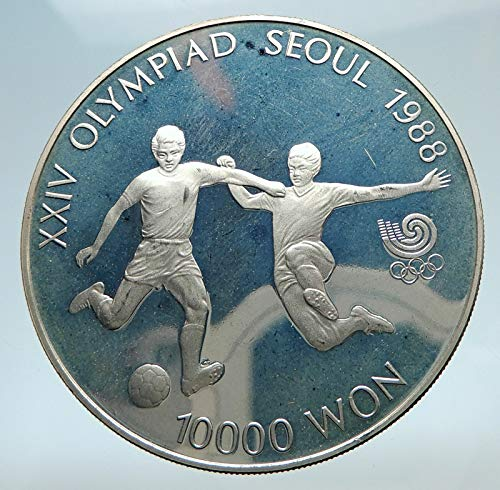 - 1988 unknown 1988 SOUTH KOREA Seoul OLYMPIC GAMES Soccer Footb coin Good Uncertified