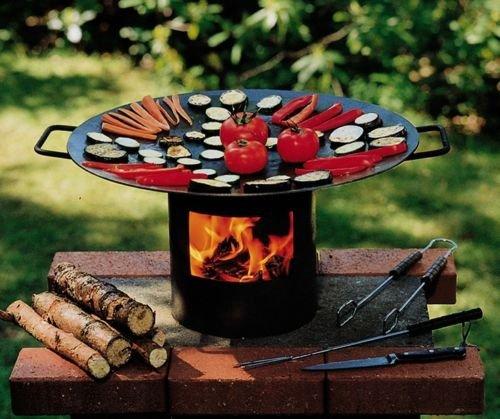 Grill Feuer Grill Grips - der Feuer-Wok-/Grill in der Holzkiste