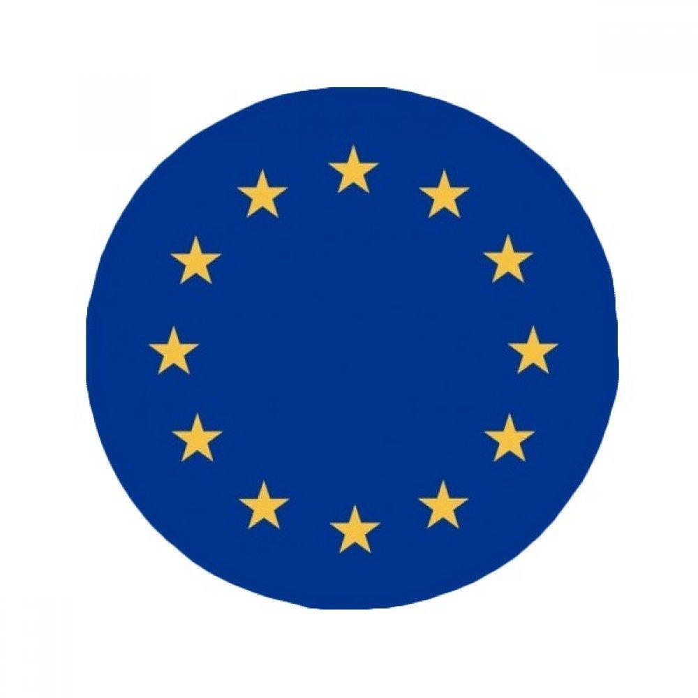 60X60cm DIYthinker EU National Flag Europe Country Anti-Slip Floor Pet Mat Round Bathroom Living Room Kitchen Door 60 50Cm Gift