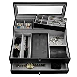 Valet Tray for Men| Sleek Dresser-Organizer Box...