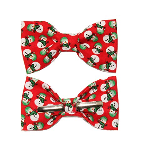 Toddler Boy 4T 5T Red Snowman Clip On Cotton Bow Tie Bowtie