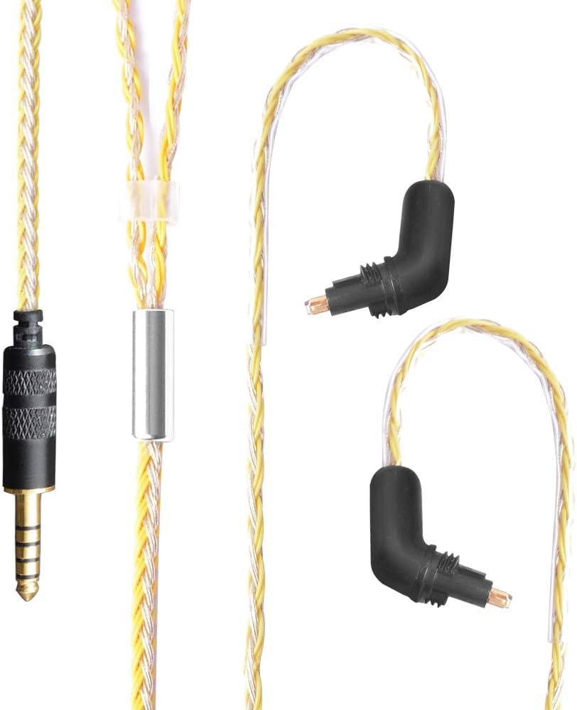 Audiokabel okcsc Kopfh/örerkabel Ersatzkabel abnehmbares Ersatzkabel f/ür Sony EX600 EX800 EX1000 EXK MDR7550 4.4mm Plug