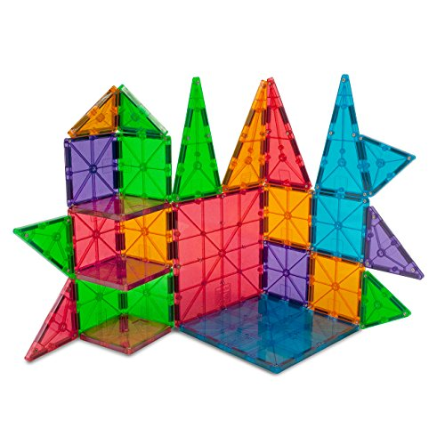 Magna-Tiles Clear Colors 100 Piece Set by Valtech Company (Image #4)