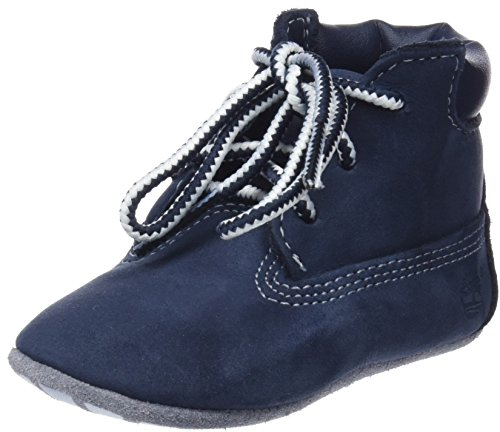 Timberland Baby Crib Bootie with Hat Ankle Boot, Navy Nubuck, 3 Medium US Infant