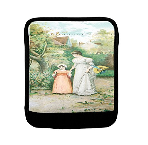 Mom And Daughter Old Poster Luggage Handle Wrap Finder by Style in Print