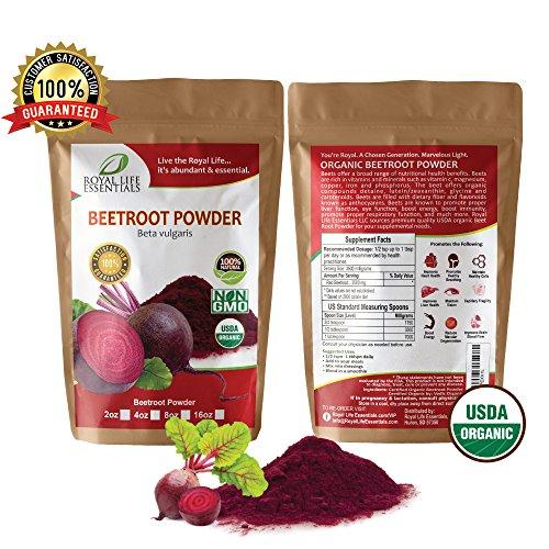 Beetroot Powder Organic 100% Natural Supplement 16oz - Royal Life Essentials | Beet Juice Powder, Rich in Glutamine, Vitamins C, A & B6 | Antioxidants & Anti-Inflammatory Properties for Immune Support
