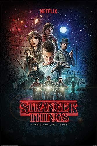 Todo para el streamer: Stranger Things Póster, sin laminar, Multicolor, 61 x 91.5cm