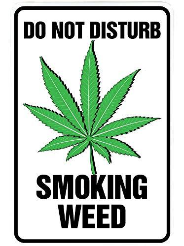 Amazoncom Do Not Disturb Smoking Weed Blaze It Funny Metal Decor