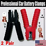 4 PCS - Heavy Duty Jumper Starter Booster Cable Car Battery Charger Clamp