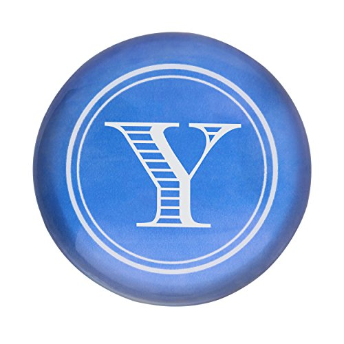 Cathys Decoration Concepts Table (Cathy's Concepts Personalized Circle with Block Letter Domed Glass Paperweight, Letter Y, Blue)