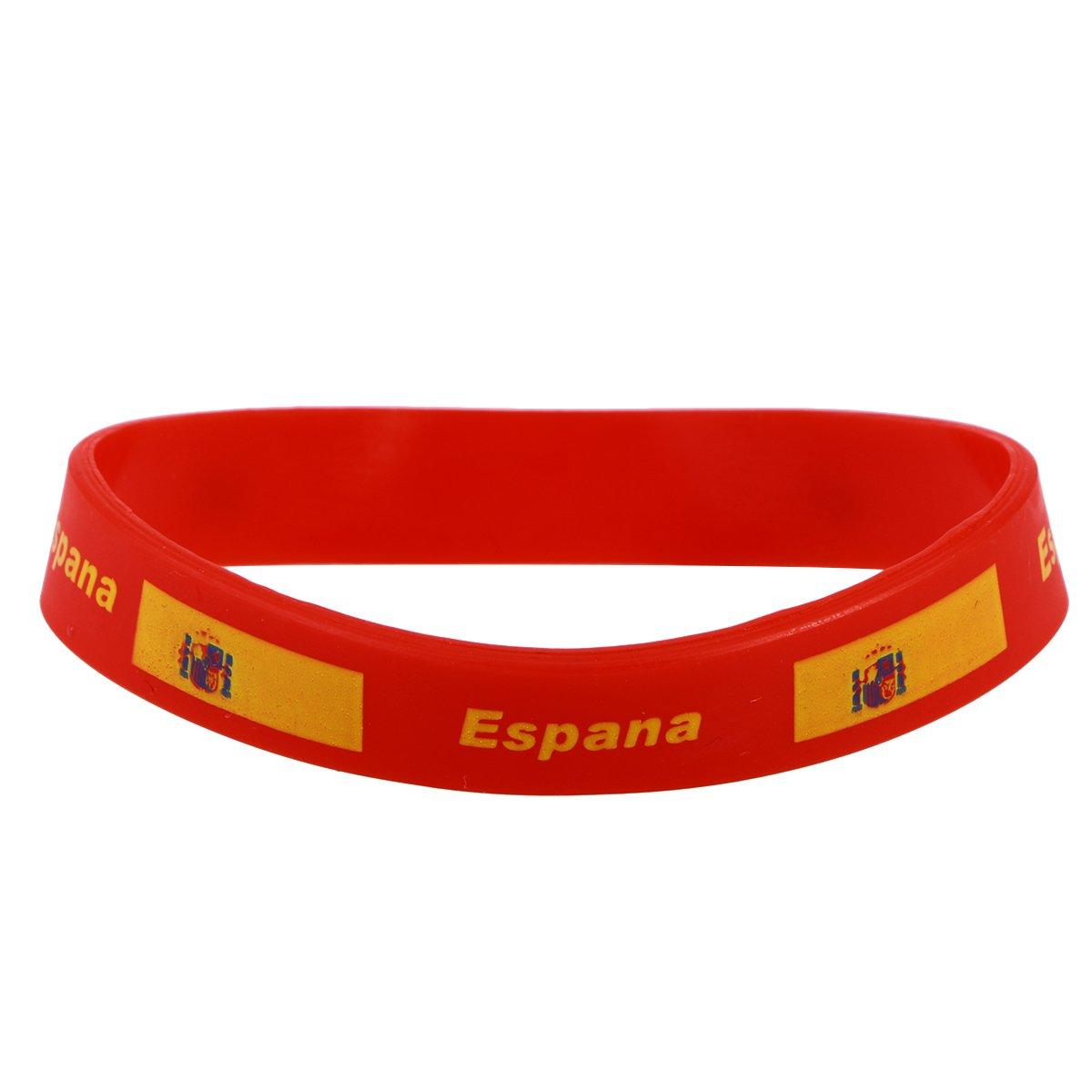 Ministro colorante dañar  de Silicona de España Pulsera Spain Wristband Underground Kulture Muñequera  fundaciointermedia.org