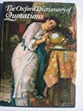 The Oxford Dictionary of Quotations, J. A. Simpson, 019211560X