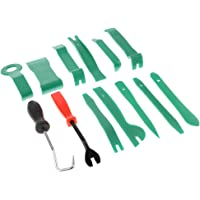 HOMYL 13Pcs Audio Install Car Removal Tool Door Clip Kit Panel Radio Trim Dash - Green