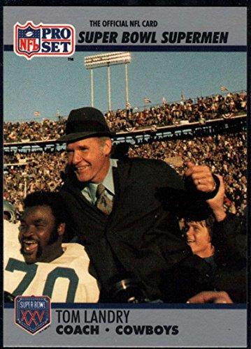 - Football NFL 1990-91 Pro Set Super Bowl 160 #27 Tom Landry CO NM-MT Cowboys