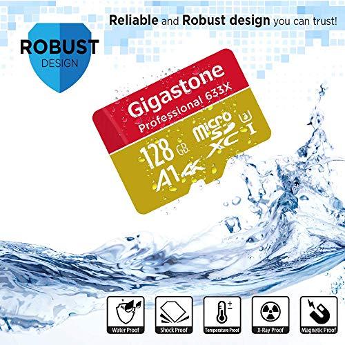 Gigastone 128GB Micro SD Card, Professional 4K Ultra HD, High speed 4K UHD gaming, Micro SDXC UHS-I U3 C10 Class 10 Memory Card with Adapter