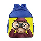 Toddler Kids Curious George School Backpack Fashion Children School Bag RoyalBlue