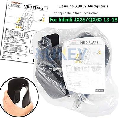 XUKEY Mud Flaps Mudflaps Splash Guards For Infiniti JX35//QX60 13-18 Mudguards