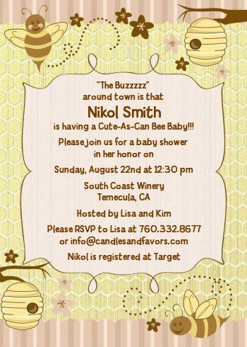 Amazon cute as can bee baby shower invitations health cute as can bee baby shower invitations filmwisefo