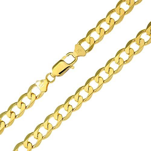 Revoni Bague en or jaune 9carats-Collier gourmette 43,8g, largeur: 61cm/61cm Longueur, 7,8mm