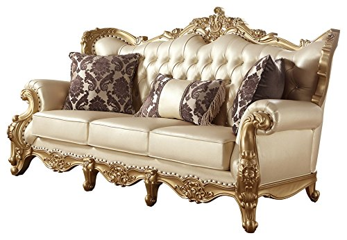 Amazon.com: Meridian Furniture 676-S Benito Leather Upholstered ...