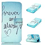 iPhone 5C Case,iPhone 5C Case, Kmety eternal love PU Leather Wallet Type Magnet Design Flip Case Cover Credit Card Holder Pouch Case for Apple iPhone 5C