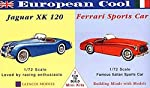 Glencoe Models 1:72 Scale European Cool Jaguar XK120/Ferrari Sports Car from International Hobbycraft Co In