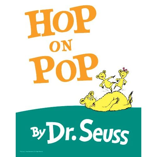 Classic Book Covers Posters : Amazon hop on pop classic book cover poster