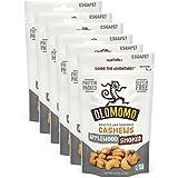 OLOMOMO Applewood Smoked Cashews: Paleo, Vegan, Gluten Free, Non-GMO, Healthy Snack packs, Bacon flavor, Sea Salt, 6 pack; 4 oz bags