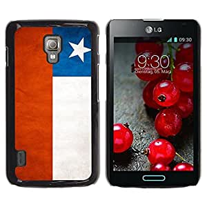 Be Good Phone Accessory // Dura Cáscara cubierta Protectora Caso Carcasa Funda de Protección para LG Optimus L7 II P710 / L7X P714 // National Flag Nation Country Chile
