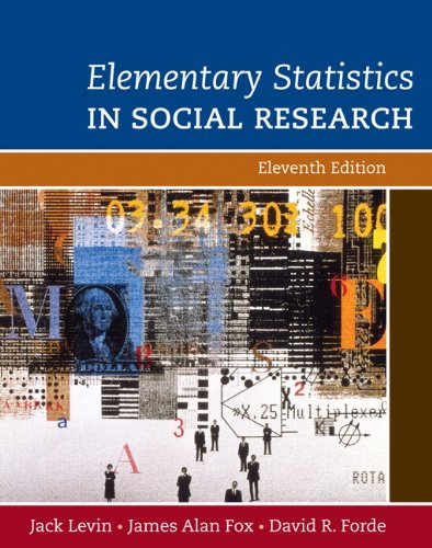 Book cover from Elementary Statistics in Social Research (11th Edition) by Jack A. Levin