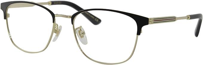 Gucci Gg0609ok Black Gold 52 18 145 Herren Brillen Amazon De Bekleidung