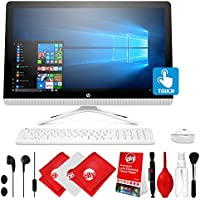 HP 23.8 FHD Touch Widescreen All-in-One Computer with Stereo Earbuds and Cleaning Kit (7th Gen Intel Core i3-7100U, 1TB 7200 rpm SATA, 4 GB RAM, Intel HD Graphics, Bluetooth 4.2, Windows 10 Home)