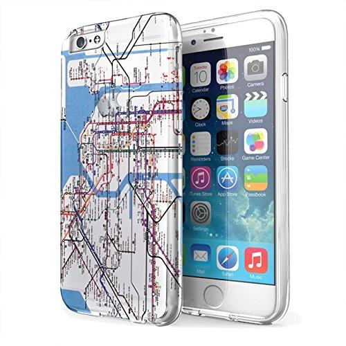 New York Subway Map App Iphone.Amazon Com New York Subway Map Iphone 6 Clear Ez Grip Rubber