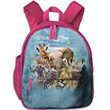 Small School Bags Creating With Animals For Kindergarten Boy Girl Pink