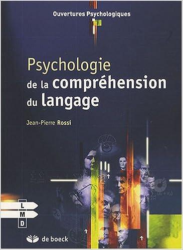 Psychologie de la compréhension du langage pdf epub