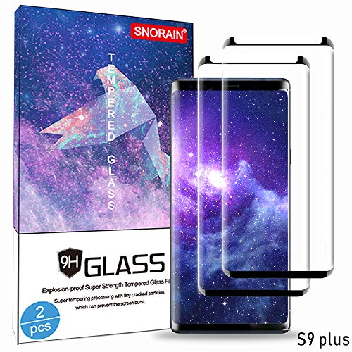 Galaxy S9 Plus Screen Protector, (2-Pack) Tempered Glass Screen Protector[Force Resistant Up to 11 Pounds][Easy Bubble-Free] Case Friendly 2018 Released for S9 Plus(6.2)