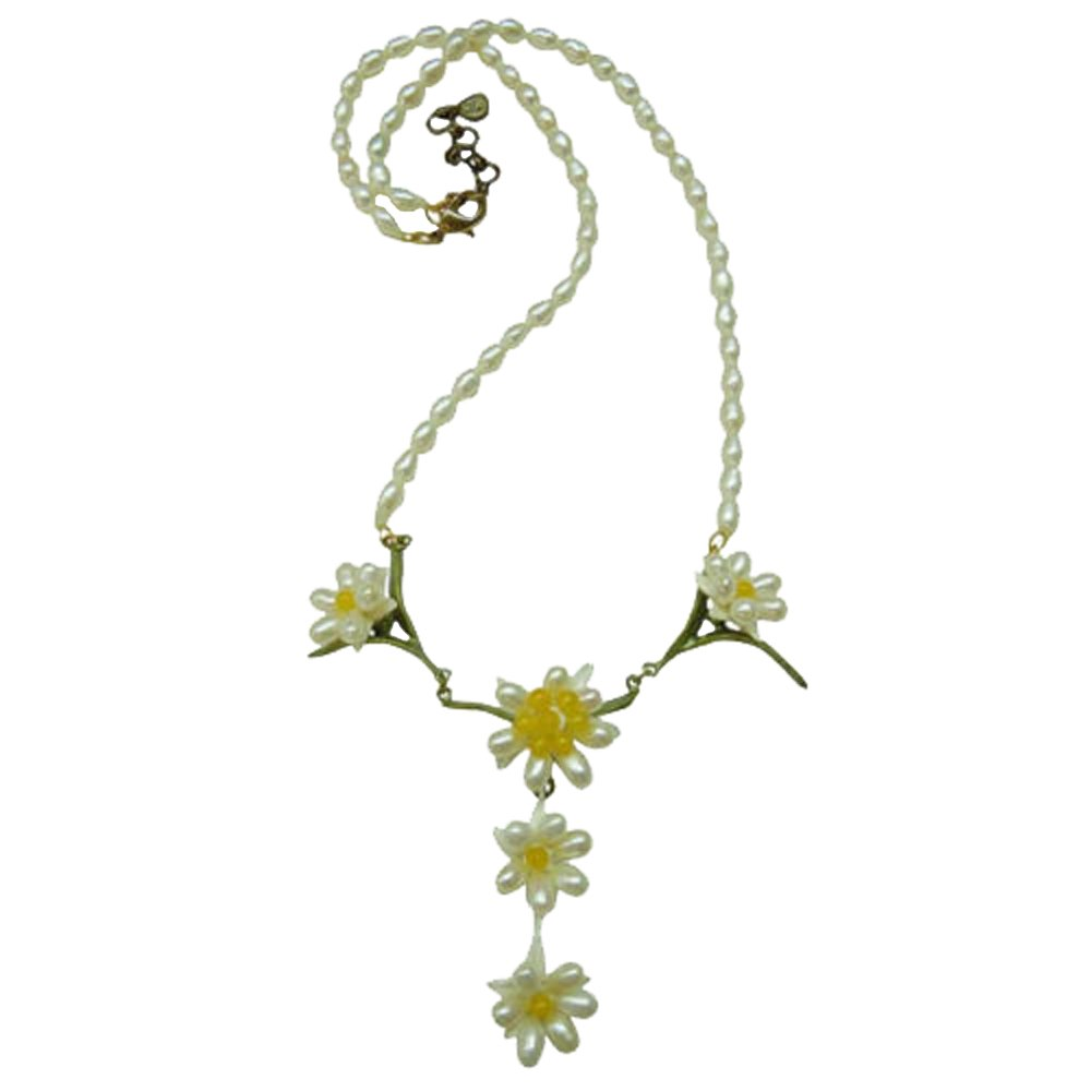 ''Edelweiss'' Pearl Drop Necklace by Michael Michaud for Silver Seasons