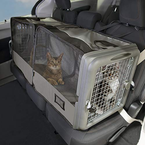 SportPet Car Seat Pet Crate, Car Kennel, Pet Tube Kennel, Pop Open Crate