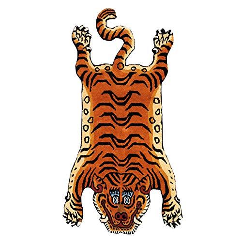 チベタンタイガーラグ ラージ DETAIL Tibetan Tiger Rug [ DTTR-01 / Lサイズ ] B07GNN3WV7