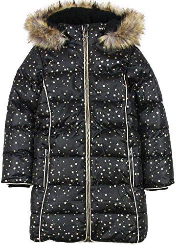 Boboli Girls Hooded Coat in Star Print Sizes 41614 Black
