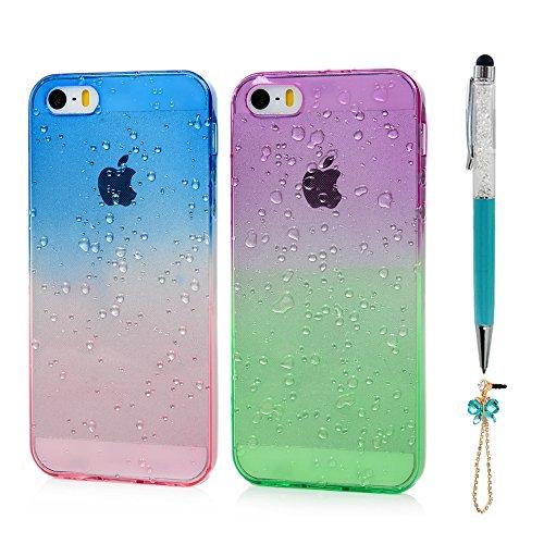 Handyhülle, Hülle, iPhone 7, Avocado, Glitzer, grün