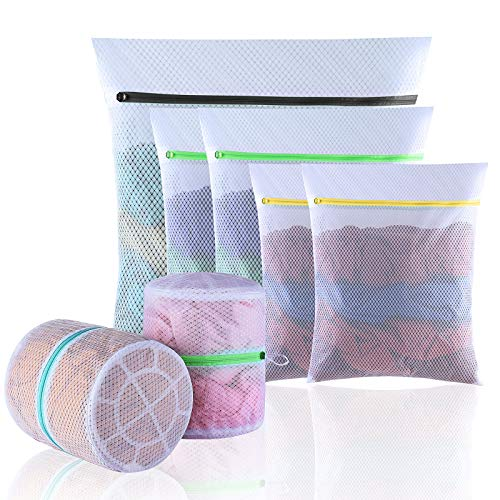 GOGOODA Mesh Laundry Bags, Delicates Washing Bags for Sweater Blouse Hosiery Bras Premium Wash Bags for Travel Storage Organization