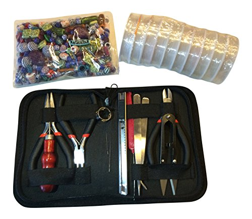 craft and jewelry making tools starter kit with pliers