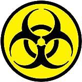 Radiactivos símbolo vinilo autoadhesivo pegatinas de